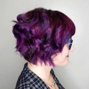 Another side view of my purple hair.