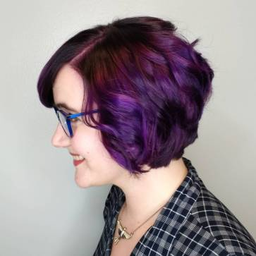 A side view of my purple hair.